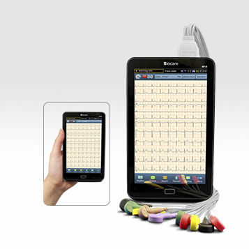 Resting electrocardiograph / smartphone-based / 12-channel / with display iE 10 Biocare