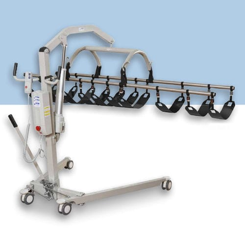 electric patient lift / on casters / mortuary