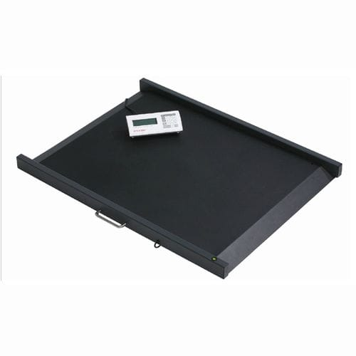 electronic platform scale / for wheelchairs / with mobile display / portable
