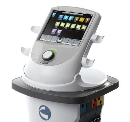 vacuum therapy unit / trolley-mounted / 4-channel