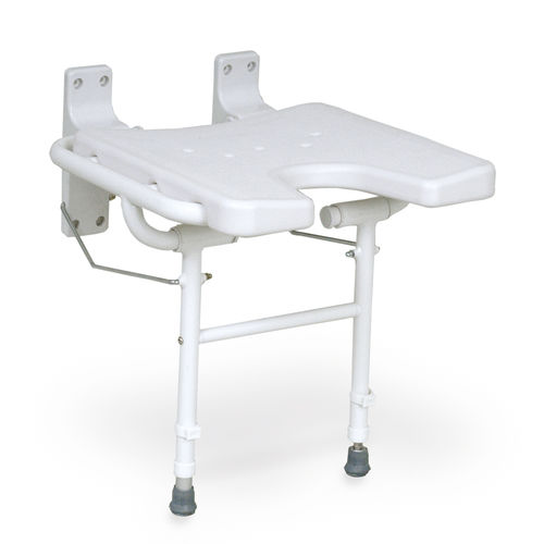 shower chair / without backrest / wall-mounted / folding