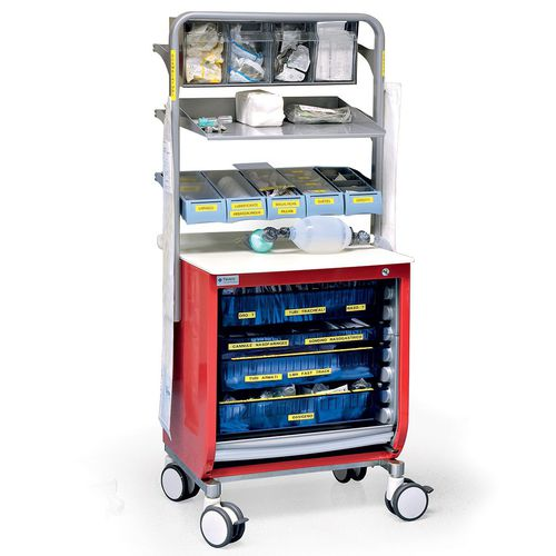 emergency cabinet / hospital / with shelf / with tambour door