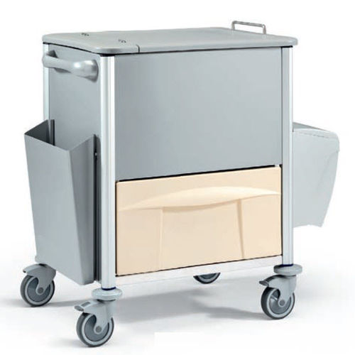 transport trolley / medical records / medication / with drawer