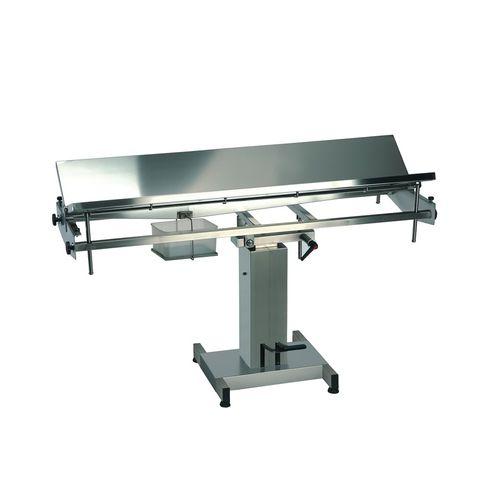 veterinary surgery table / hydraulic / manual / height-adjustable
