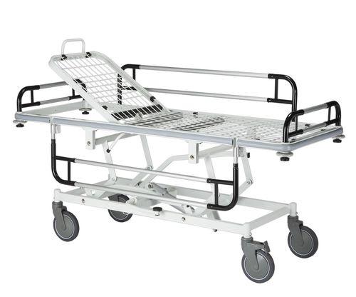 transport stretcher trolley / hydraulic / pneumatic / height-adjustable