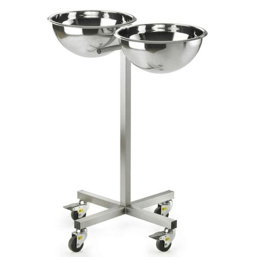 double basin stand / single / stainless steel