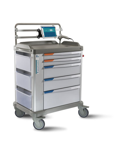 tablet PC computer cart / with drawer / with touchscreen