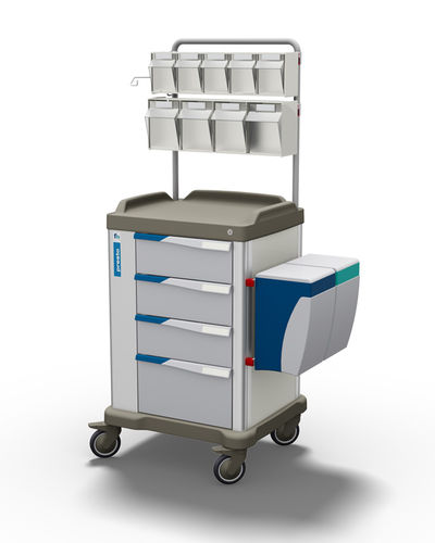 multi-function trolley / medicine distribution / logistics / with drawer