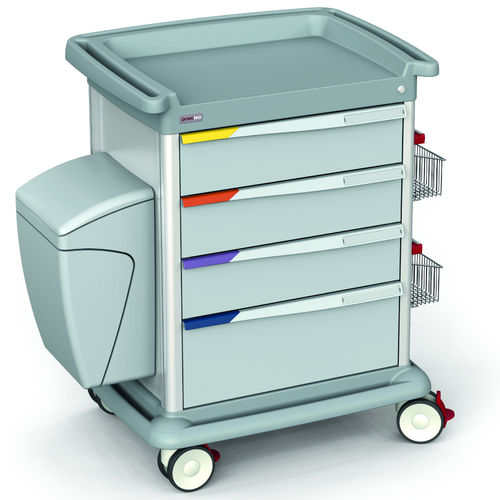 multi-function trolley / transport / 4-drawer / with tray