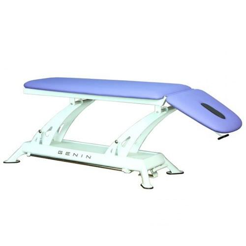 electric massage table / height-adjustable / 2-section