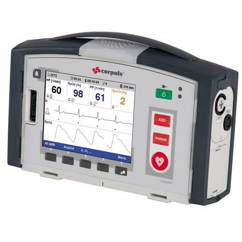 semi-automatic external defibrillator / with multi-parameter monitor