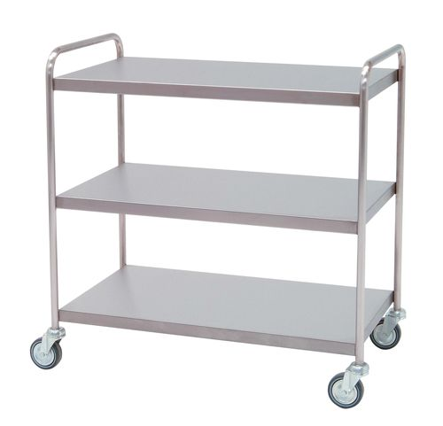 cleaning trolley / meal / 3-tray