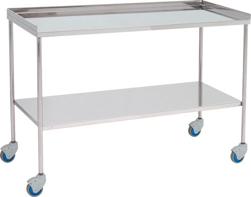 Auxiliary Instrument Table / 2 Shelf / On Casters / Stainless Steel