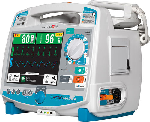semi-automatic external defibrillator / with multi-parameter monitor / biphasic