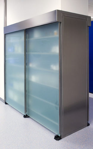 sample storage cabinet / for laboratory samples / laboratory / with sliding door