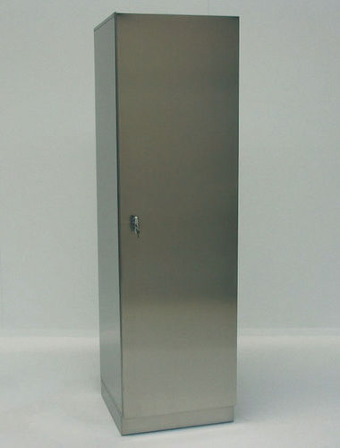 hospital cabinet / with hinged door / stainless steel