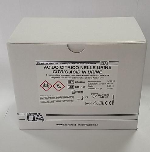 clinical chemistry assay kit / citric acid / urine / enzymatic
