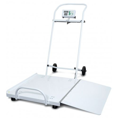electronic platform scale / for wheelchairs / with digital display / compact