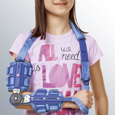 elbow splint / articulated / with handle / pediatric