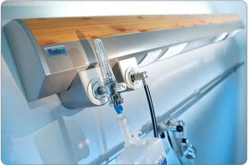 Horizontal bed head unit MEDILIGHT  MEDICOP medical equipment