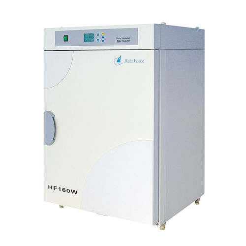 CO2 laboratory incubator / bench-top / stainless steel / water jacket