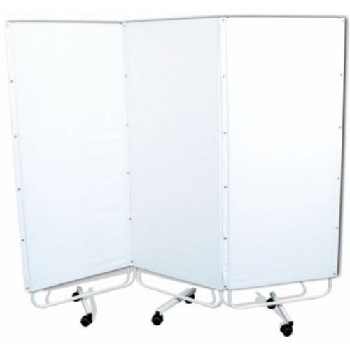 Hospital screen / on casters / 3-panel Promotal