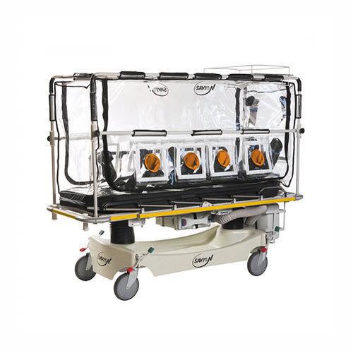 transport stretcher trolley / electric / Trendelenburg / height-adjustable