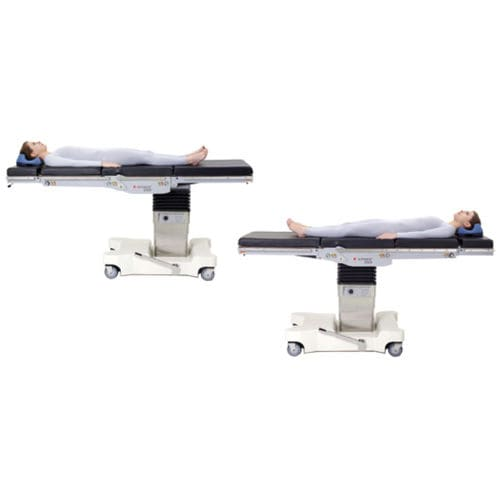 universal operating table / electro-hydraulic / height-adjustable / on casters