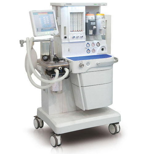 infant anesthesia workstation / trolley-mounted / with respiratory monitoring