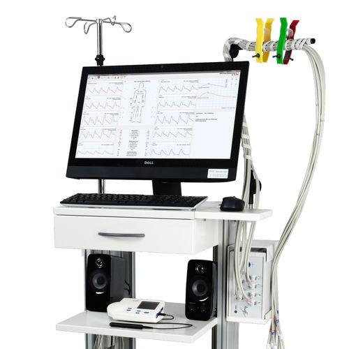 vascular diagnostic patient monitor / oscillographic / ECG / TEMP