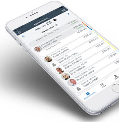appointment management iOS application / visualization / oncology