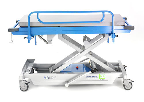transport stretcher trolley / manual / height-adjustable / pediatric