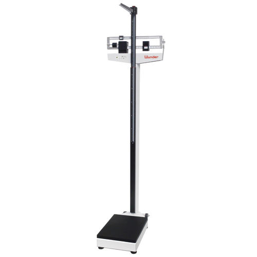 mechanical patient weighing scale / beam / column type / with height rod