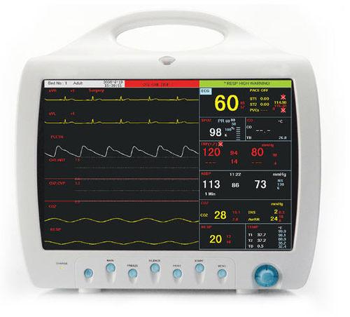multi-parameter ECG monitor / NIBP / anesthesia / compact