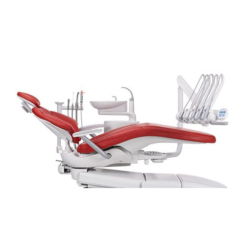 dental treatment unit with hydraulic chair
