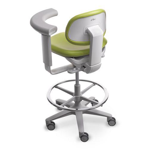dental stool / height-adjustable / rotating / on casters