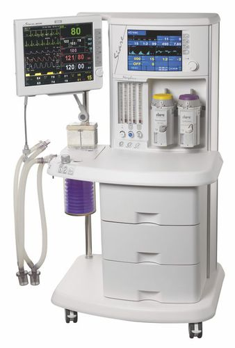 pediatric anesthesia workstation / infant / adult / trolley-mounted