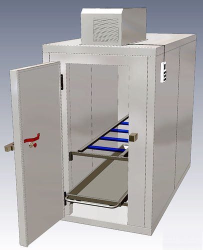 mortuary stretcher refrigerated mortuary cabinet / 2-body / front-loading / 1-door