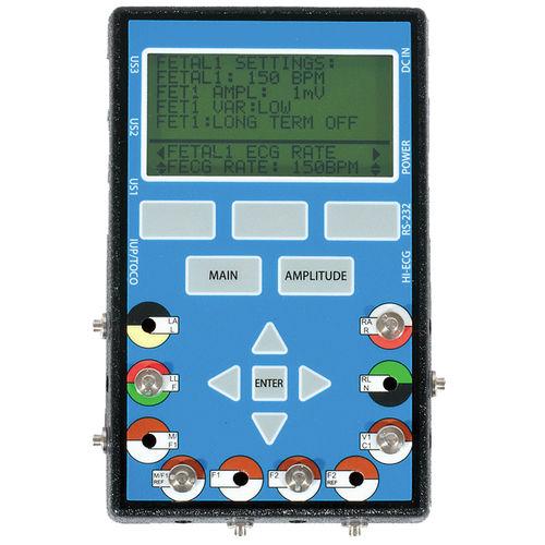 heart rate simulator / ECG / fetal / monitor