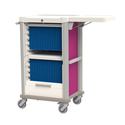 transport trolley / for medical records