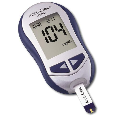blood glucose meter with lancing device