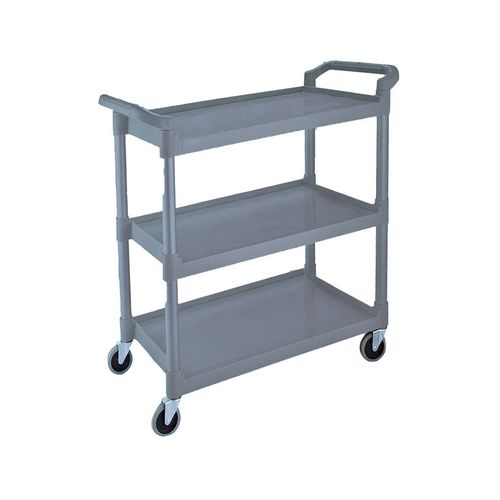 service trolley / meal / 3-tray / aluminum