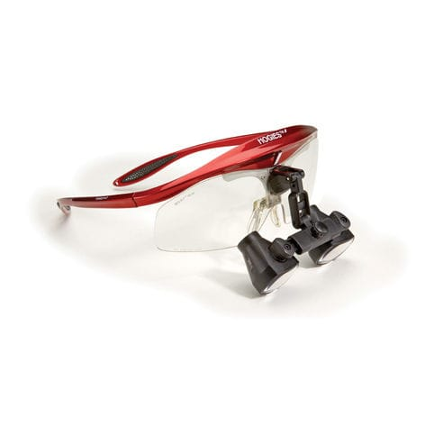 binocular loupe with frames