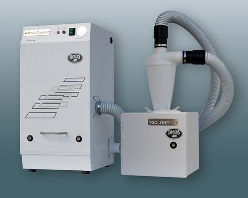 milling machine dust suction unit / tabletop / with filtration system