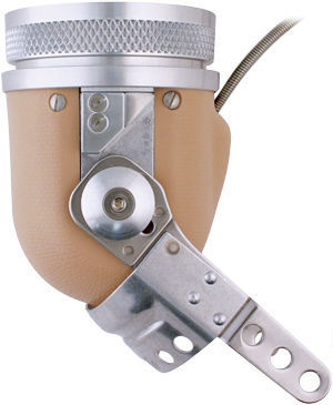 body-powered external elbow prosthesis / articulated / adult