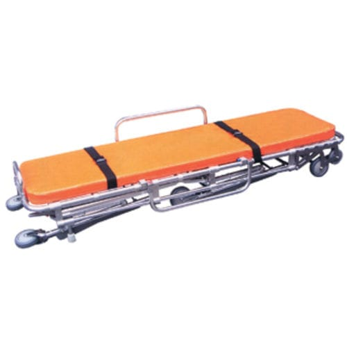 transport stretcher trolley / for ambulances / manual / folding