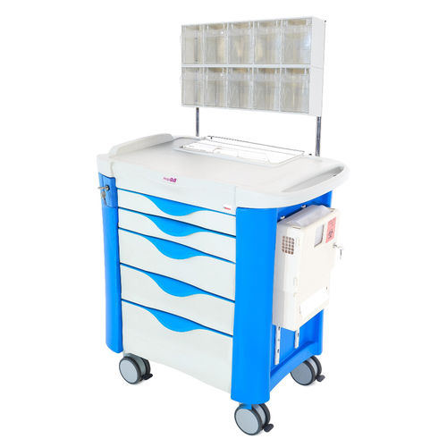 anesthesia cart / for medical devices / medicine / with drawer