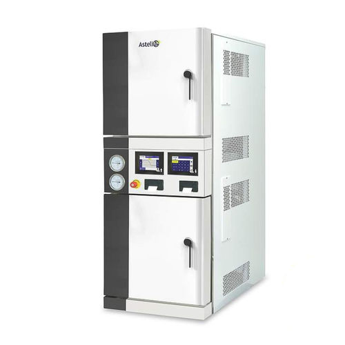 laboratory autoclave / vertical / front-loading / with dryer