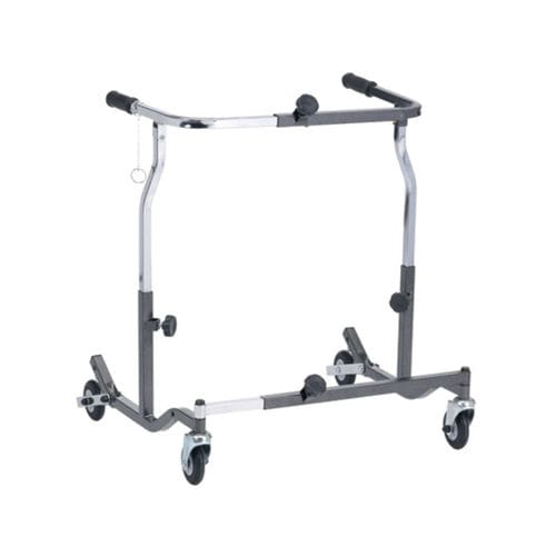 4-caster rollator / folding / height-adjustable / bariatric