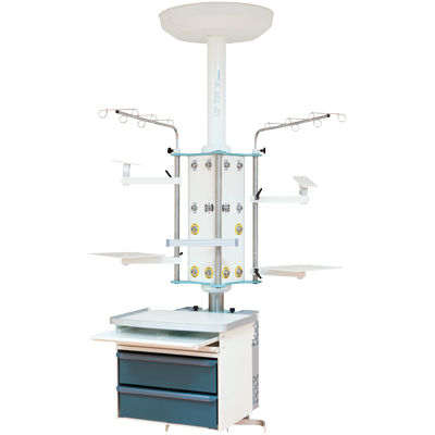 medical pendant / ceiling-mounted / with column